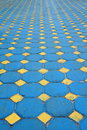 Octagon brick floor tile Royalty Free Stock Photo