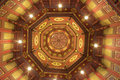 Octagon ceiling Royalty Free Stock Photo