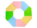 Octagon colour paper is the Stock Image