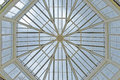 london kew gardens: Octagonal skylight Royalty Free Stock Photo
