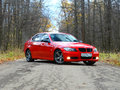 October 16, 2016; Arzamas, Russia; BMW 3 Series E90 Departure outside the city Royalty Free Stock Photo