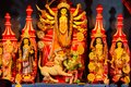 October 2018,Kolkata,West Bengal, India.Godess Durga idol in a Pandal.Durga Puja is the most important worldwide hindu festival fo