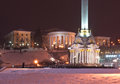 October palace international center culture arts was designed architect vikentiy beretti early s view square independence kiev Stock Photo