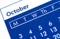 October plan. Royalty Free Stock Photo