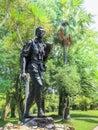 12-OCTOBER 2018, UTHAI THANI PROVINCE, THAILAND : Seub Nakhasathien statue, Thai conservationist, monument at Huai Kha Khaeng, U Royalty Free Stock Photo