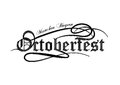 Octoberfest gothic calligraphic hand lettering. Royalty Free Stock Photo