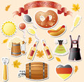 Octoberfest set of vector subjects for Royalty Free Stock Image