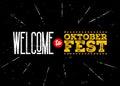 Octoberfest Vector Emblem. Welcome to Oktoberfest Inscription. Royalty Free Stock Photo