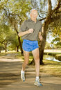 Octogenarian Runner athlete Royalty Free Stock Image