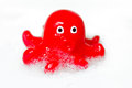 Octopus children bath toy Royalty Free Stock Photos