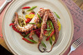Octopus dish Royalty Free Stock Photography