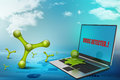 Octopus in laptop Royalty Free Stock Photo