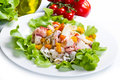 Octopus salad with pepper and Stock Image