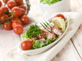 Octopus salad with tomatoes Royalty Free Stock Image