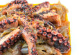 Octopus stew with onions octapodhi stifado Royalty Free Stock Photos
