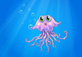 An octopus under the sea illustration of Royalty Free Stock Images