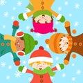 Odświętności dzieciaków śnieg Obrazy Royalty Free