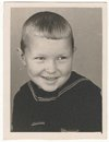 Od soviet black and white portrait photograph of a little boy old photographs Royalty Free Stock Photography