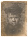 Od soviet black and white portrait photograph of a little boy old photographs Stock Photography