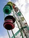 Odd angle ferris wheel Stock Photography