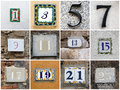 Odd numbers collage of house from to Royalty Free Stock Photo