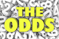 The Odds 3d Word Letters Number Background Chances Possible Like Royalty Free Stock Photo