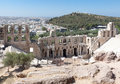 Odeon of Herodes Atticus Athens Greece Stock Photo