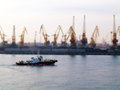 Odessa port tilt shift effect Royalty Free Stock Photos