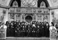 Odessa ukraine circa vintage photos of high priests of the holy assumption the patriarchal monastery in the city Royalty Free Stock Image