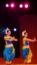 Odissi dancers in traditional costume Royalty Free Stock Photos