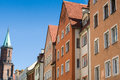 Odl tenement houses old on old town in legnica poland Stock Photography