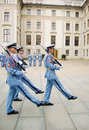 Odmienianie grodowi ceremonialni strażnicy Prague Obraz Royalty Free