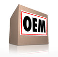 OEM Original Equipment Manufacturer Official Authentic Parts Pro Royalty Free Stock Photo
