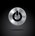Off button over black background vector illustration Stock Image