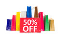 50 off discount Royalty Free Stock Photo