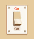 On / Off light switch Royalty Free Stock Photo