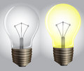 On and off lights illustration showing the Royalty Free Stock Image