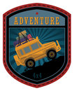 Off road adventure label or sign Royalty Free Stock Images