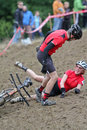 Off-Road Cyclocross Tandem Stock Photography