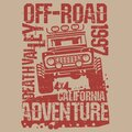 Off-Road Extreme Adventure SUV poster or t-shirt design