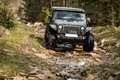 Off-road extreme expedition on black jeep wrangler Royalty Free Stock Photo