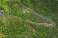 Off road in south dakota aerial view of some vehicles the black hills of Royalty Free Stock Images