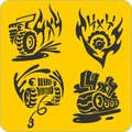Off road symbols vector set vinyl ready illustration Stock Photography