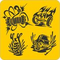 Off road symbols vector set vinyl ready illustration Stock Photo