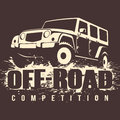 Off-road 4x4 Car Competition Royalty Free Stock Photo