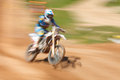 Off rod motorbike riding fun speed blurred motion Royalty Free Stock Photo