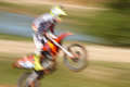 Off rod motorbike riding fun speed blurred motion Stock Photo