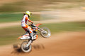 Off rod motorbike riding fun speed blurred motion Stock Image