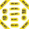 10% off sales tags