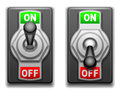 On and off switches collection of Stock Image